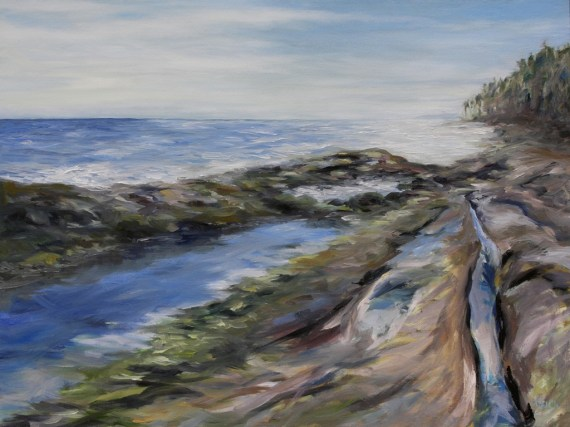 Reaching the Sea II 30 x 40 inch oil on canvas by Terrill Welch 2013_06_25 007
