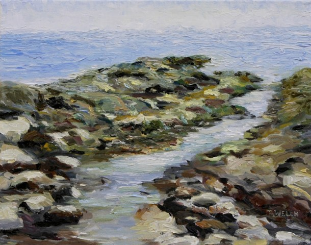 August morning Reef Bay 11 x 14 inch oil on canvas by Terrill Welch 2012_08_14 194