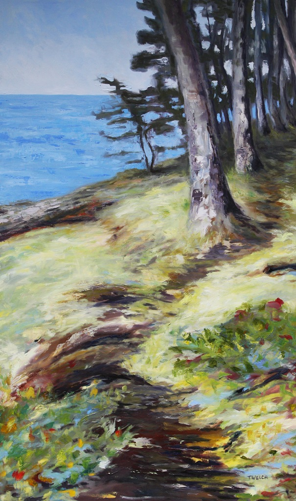 Seaside Mayne Island 60 x 36 oil on canvas by Terrill Welch 2013_10_15 041