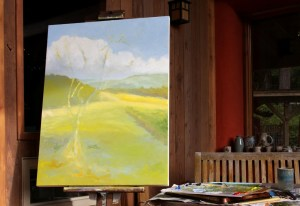 The Olive tree in progress 3 40 x 30 inch oil on canvas by Terrill Welch 2014_10_02 052