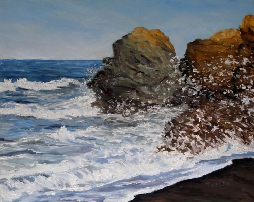 Northern California Surf Released 16 x 20 inch oil on canvas by Terrill Welch 2015_06_18 027