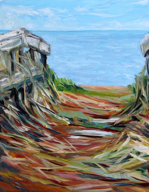 West Point Beach Path PEI study 14 x 11 inch acrylic sketch on gessobord by Terrill Welch IMG_4882