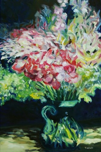 Always Roses 24 x 36 inch  oil on canvas by Terrill Welch 2012_07_12 187