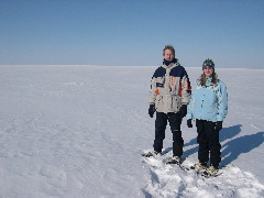 Terri and Dave snowshoeing