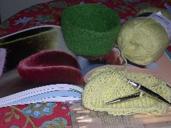 felted bowls in progress