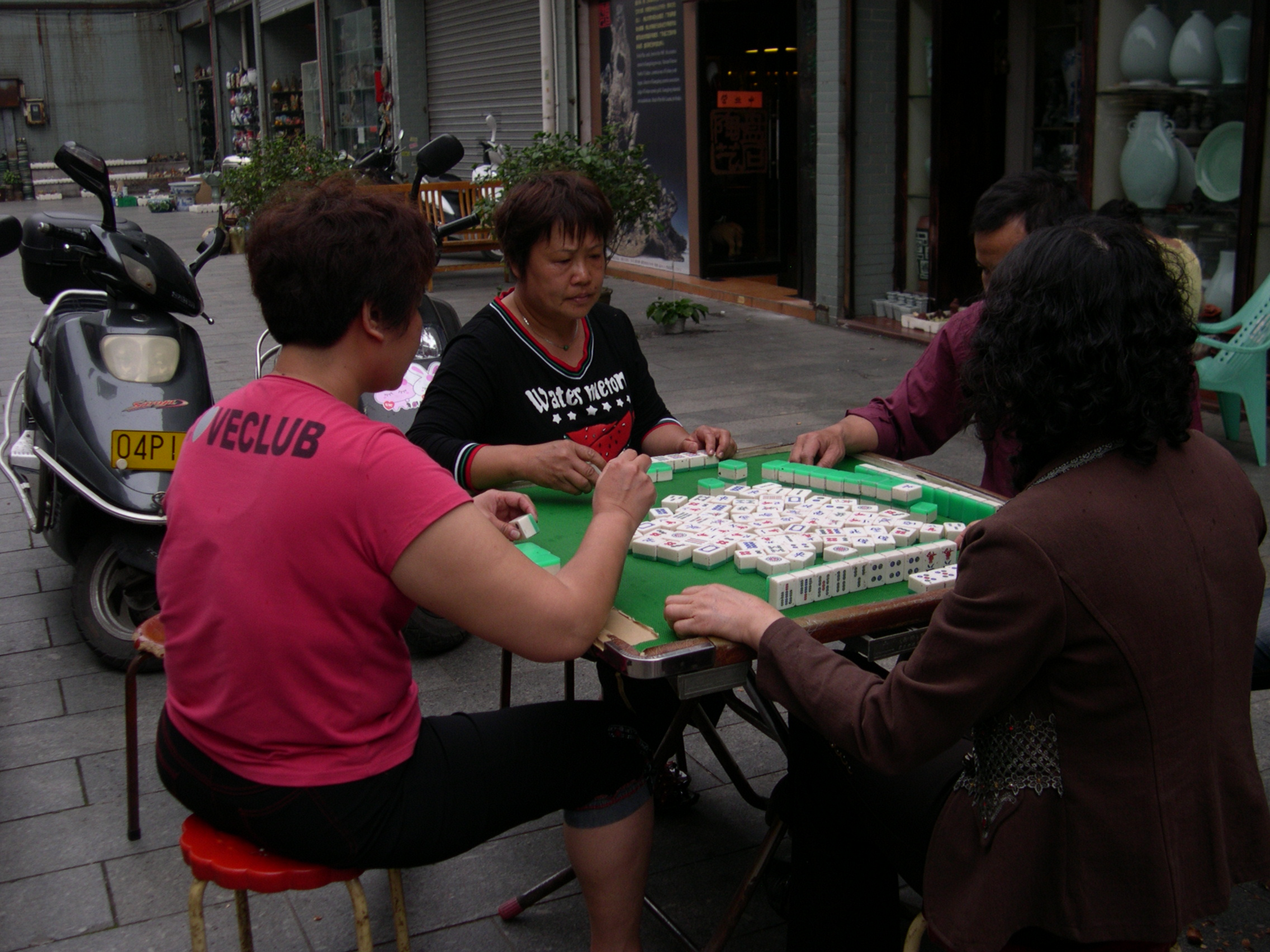 mahjong players