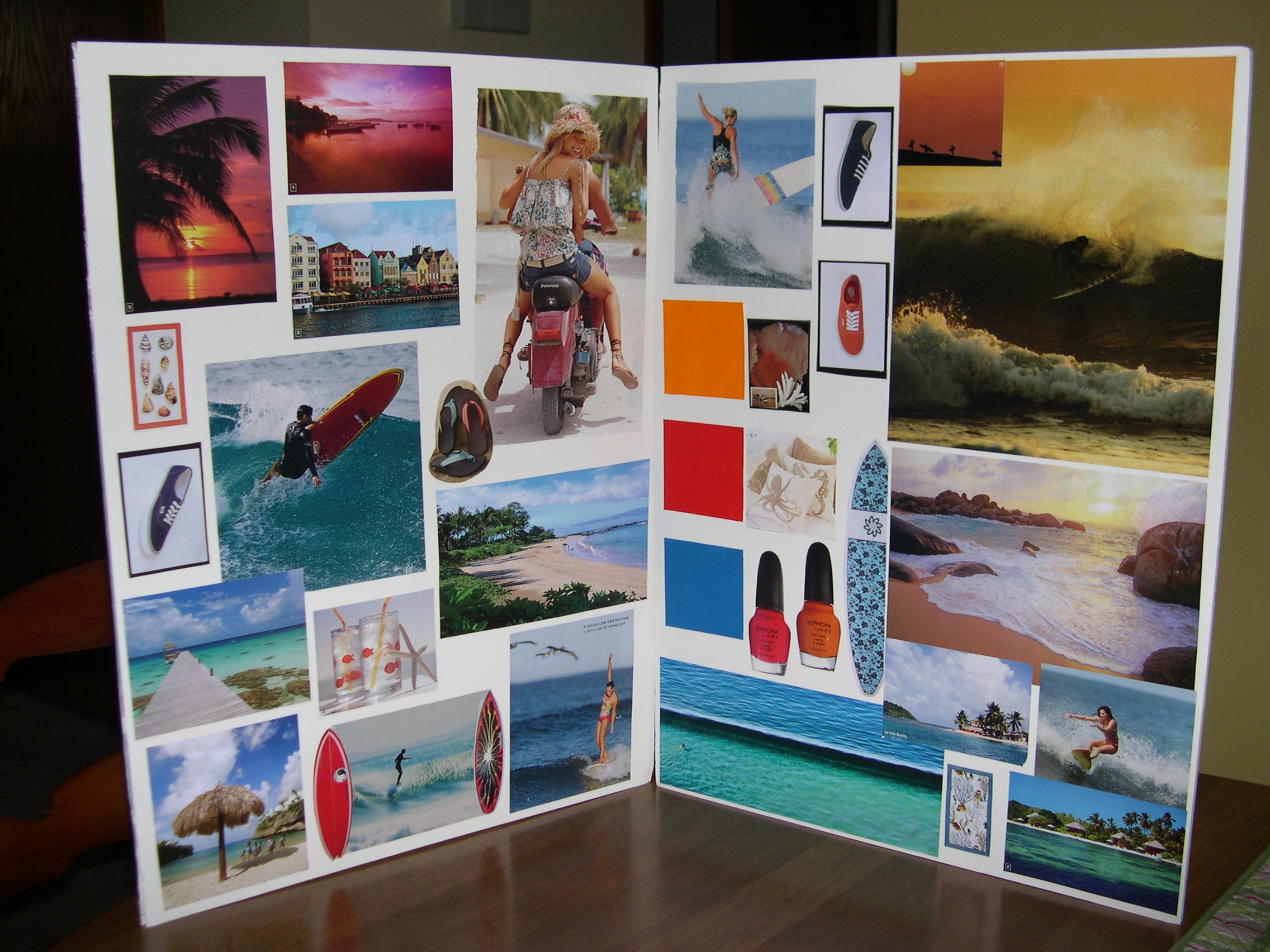 surf wear inspiration board
