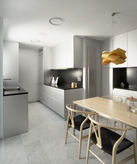 decoración de cocinas pequeñas alargadas
