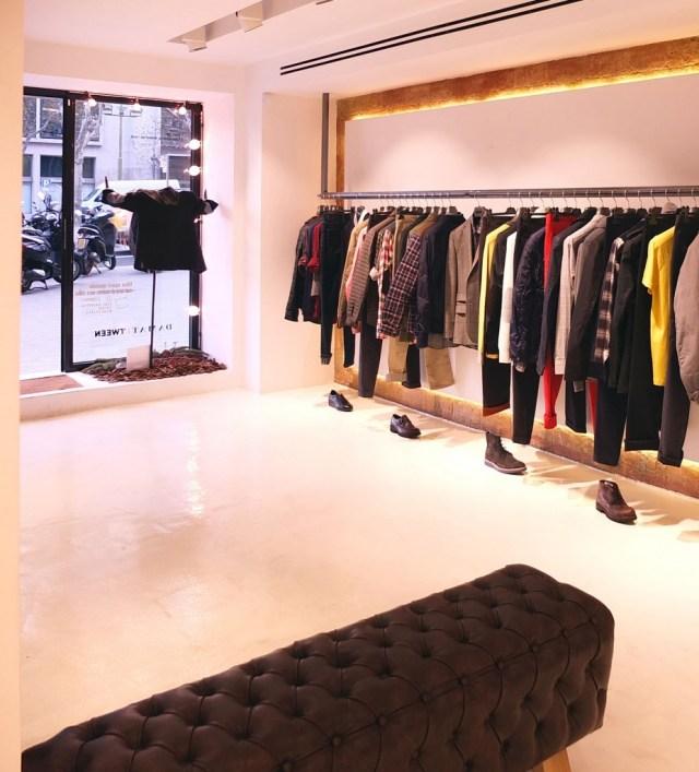 Interiorismo y decoración de tienda de ropa Tween en Barcelona