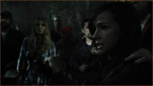 """Marybeth (Danielle Harris) breaks it down for the latest victims in """"Hatchet 2""""."""