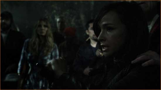 "Marybeth (Danielle Harris) breaks it down for the latest victims in ""Hatchet 2""."