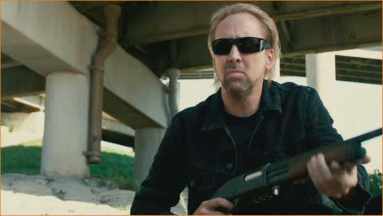 "Angry Milton (Nicolas Cage) is angry in the revved-up, old-school ""Drive Angry""."