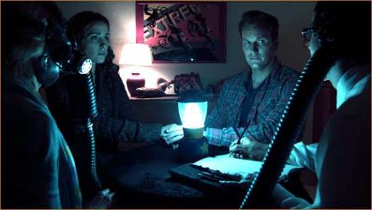"Josh (Patrick Wilson) and Renai (Rose Byrne) and creepy goings-on in ""Insidious""."