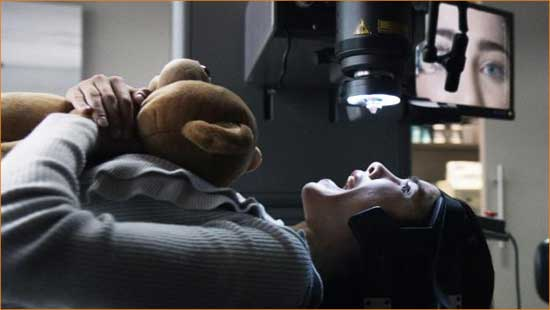 "Olivia (Jacqueline MacInnes Wood) gets an eyeful in ""Final Destination 5""."