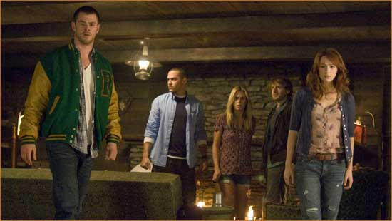 "The gang's all here in ""The Cabin in the Woods""."