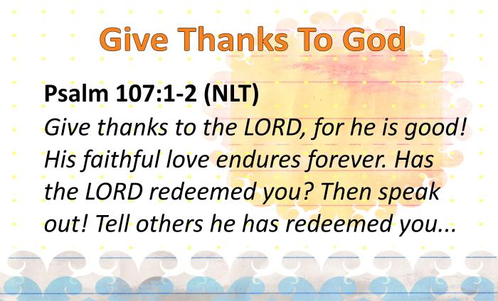 BVD- Give Thanks To God