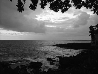 Taken on the Big Island at sunset...even black & white has a beauty of its own...
