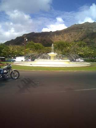 Fountain in a park just south of Waikiki...