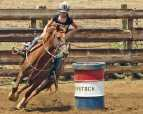 Another girls' rodeo at Gunstock Ranch in Laie, on Oahu's North Shore...