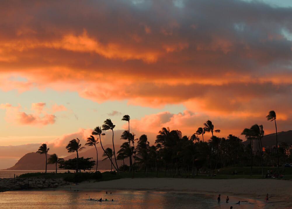 Hawaii sunset at Ko Olina