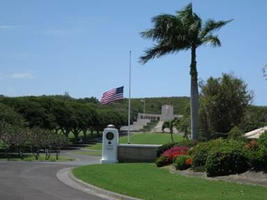 Entrance to the Nationa Cemetery of the Pacific in Honolulu...