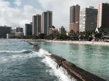 Honolulu from the Wall at Waikiki