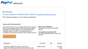 PayPal EBay email scam