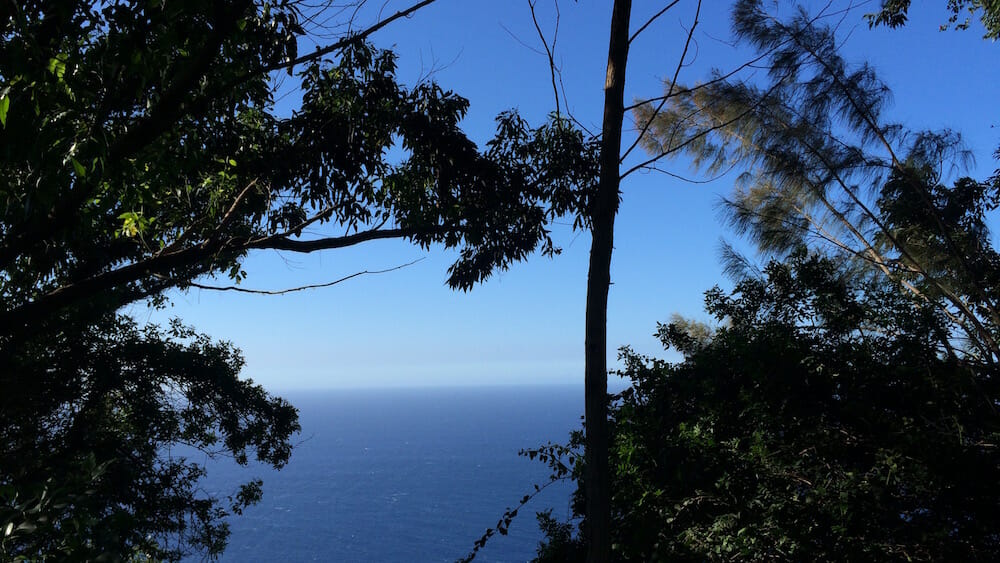 Waipio Valley Lookout facing makai (to the sea)