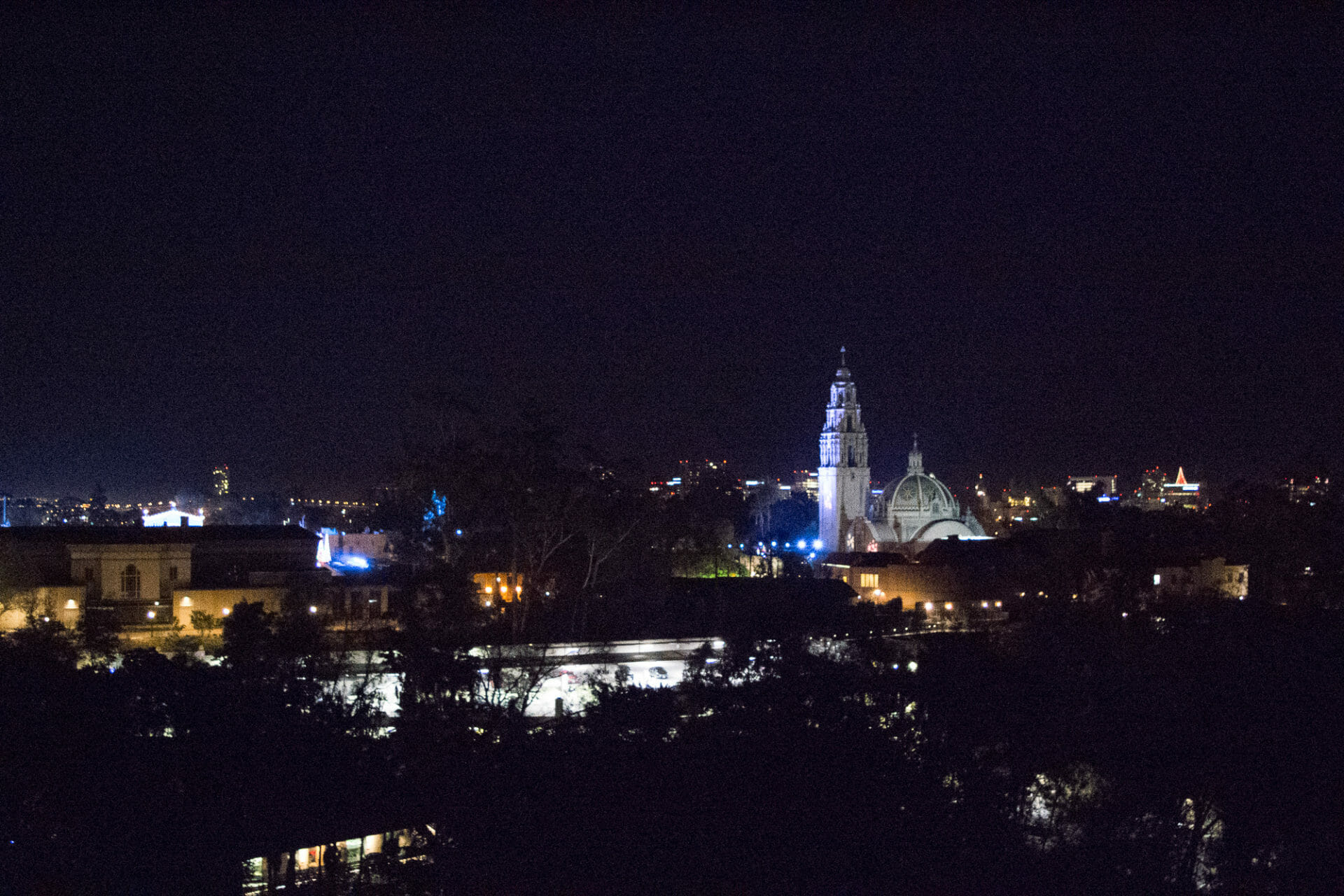 San Diego at night from the zoo's Skyfari during Jungle Bells! What a fab view!