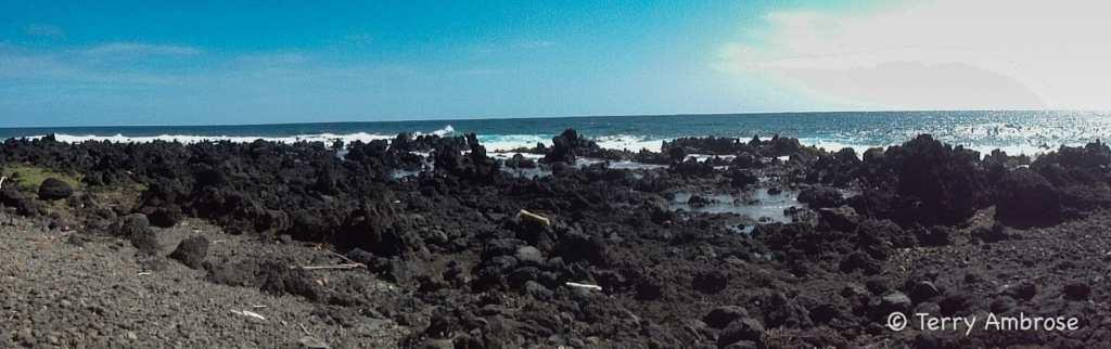 Panorama at Keanae Peninsula view