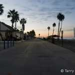 Along the shore in Oceanside at dawn