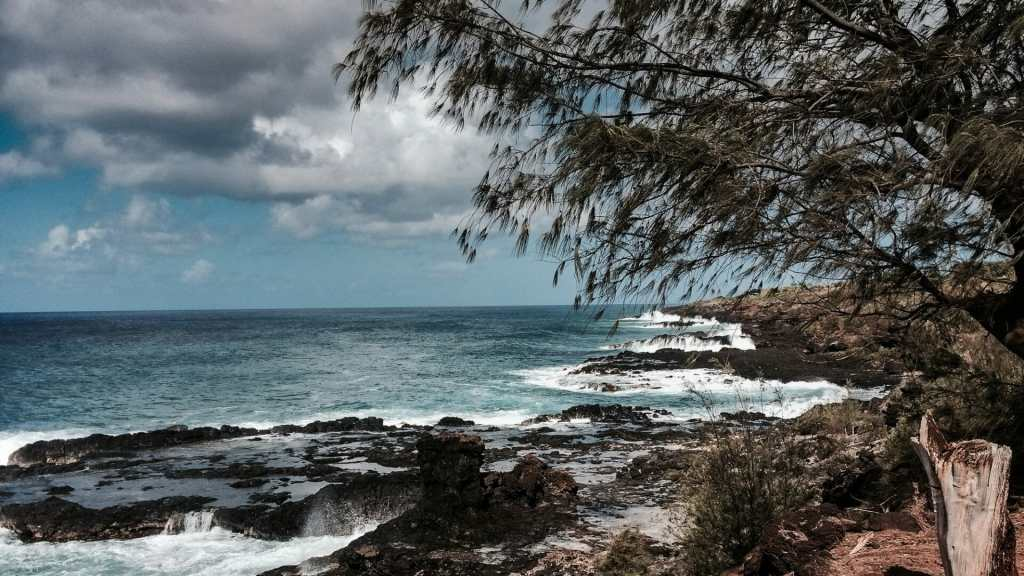 Kauai coastline at Spouting Horn