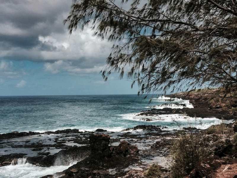 Kauai coast at Spouting Horn