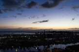 Ala Wai Harbor with sunset past