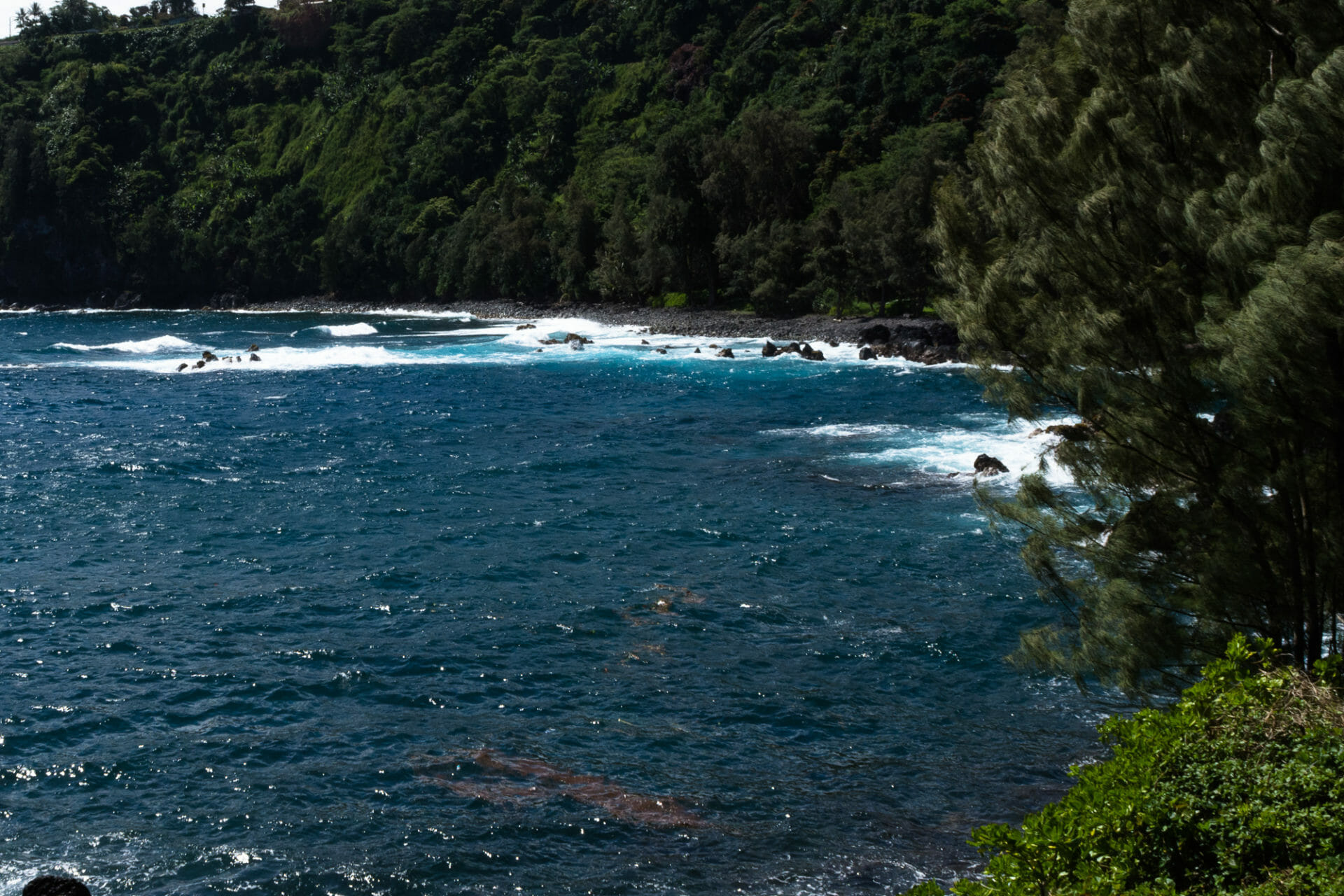 Beautiful blue waters at Lapahoehoe on the Big Island