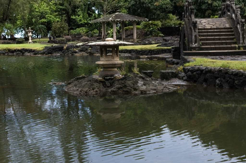 Liliuokalani Gardens shine even on a gray day