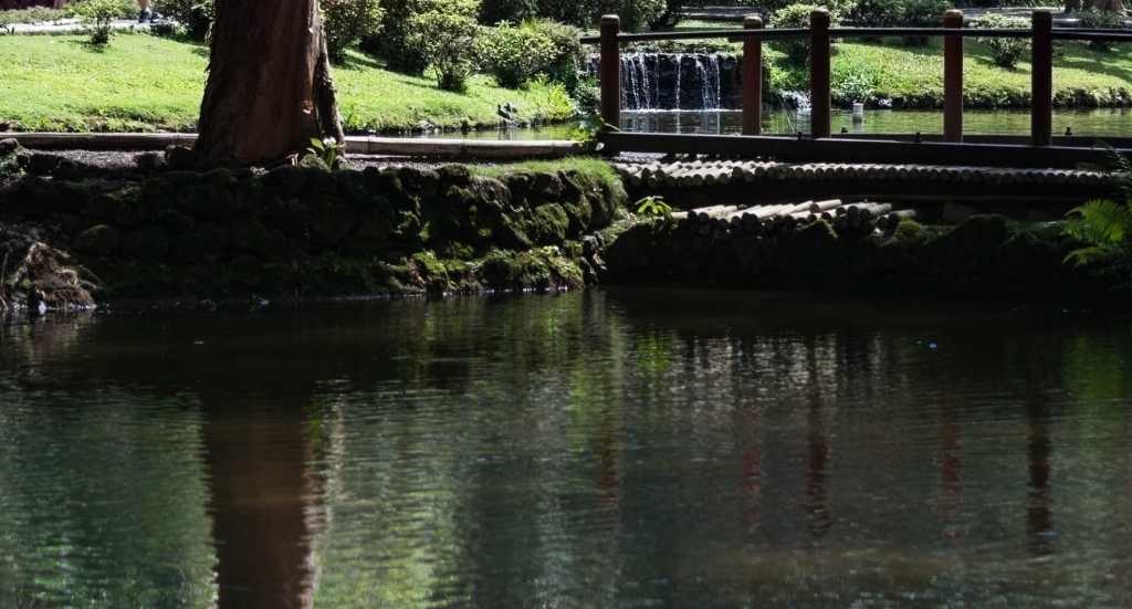 Byodo-In Lagoon sparkles