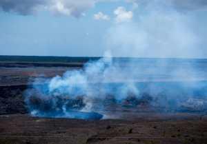 Smoke from Kilauea lava flow