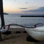 Friday Fotos – outrigger canoe at Kahanamoku Beach
