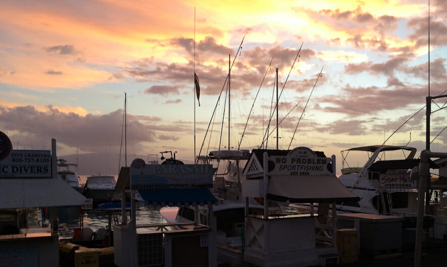 Lāhainā harbor Sunset