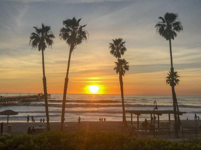 January sunset in San Clemente