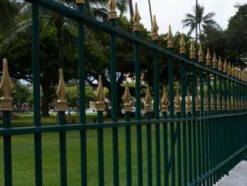 Fence at 'Iolani Palace in Honolulu