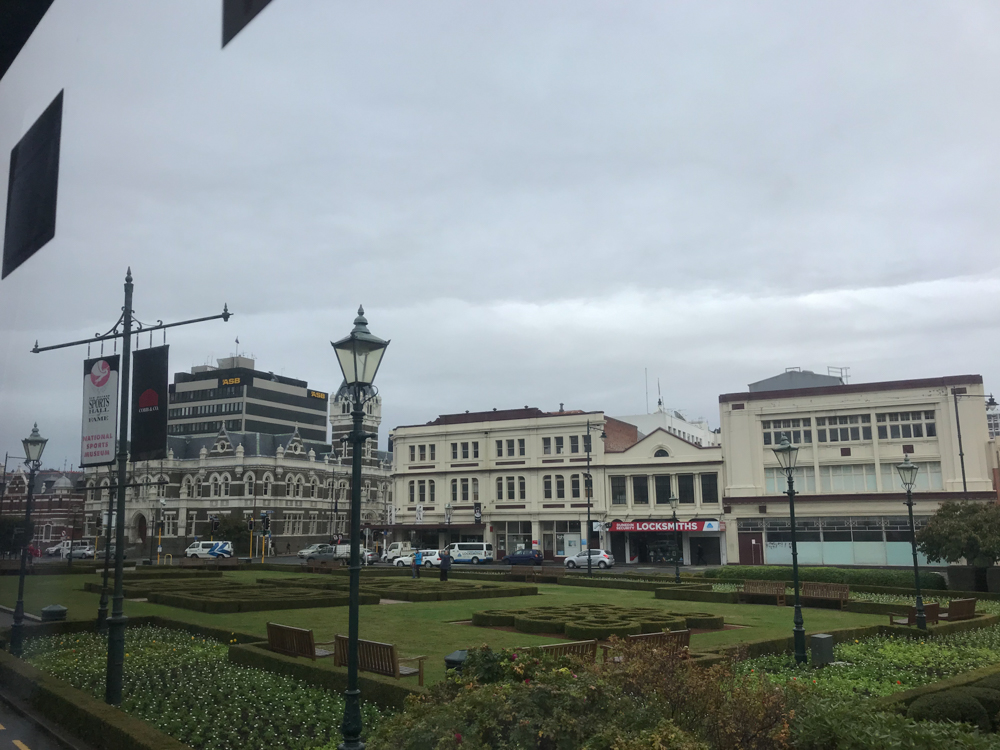 Dunedin Rail Station and its grounds