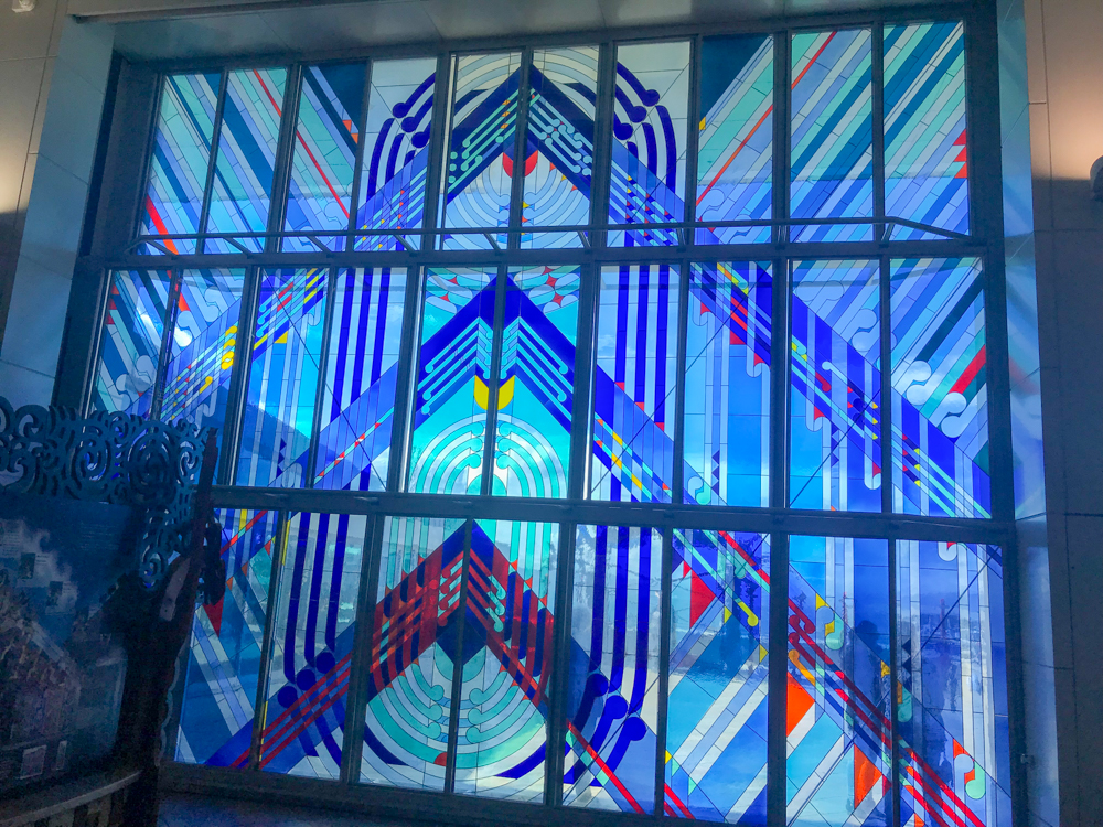 Stained glass at the museum