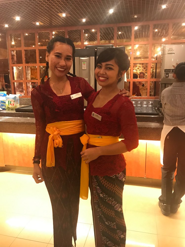 Our two favorite servers - Sonya and Cucu