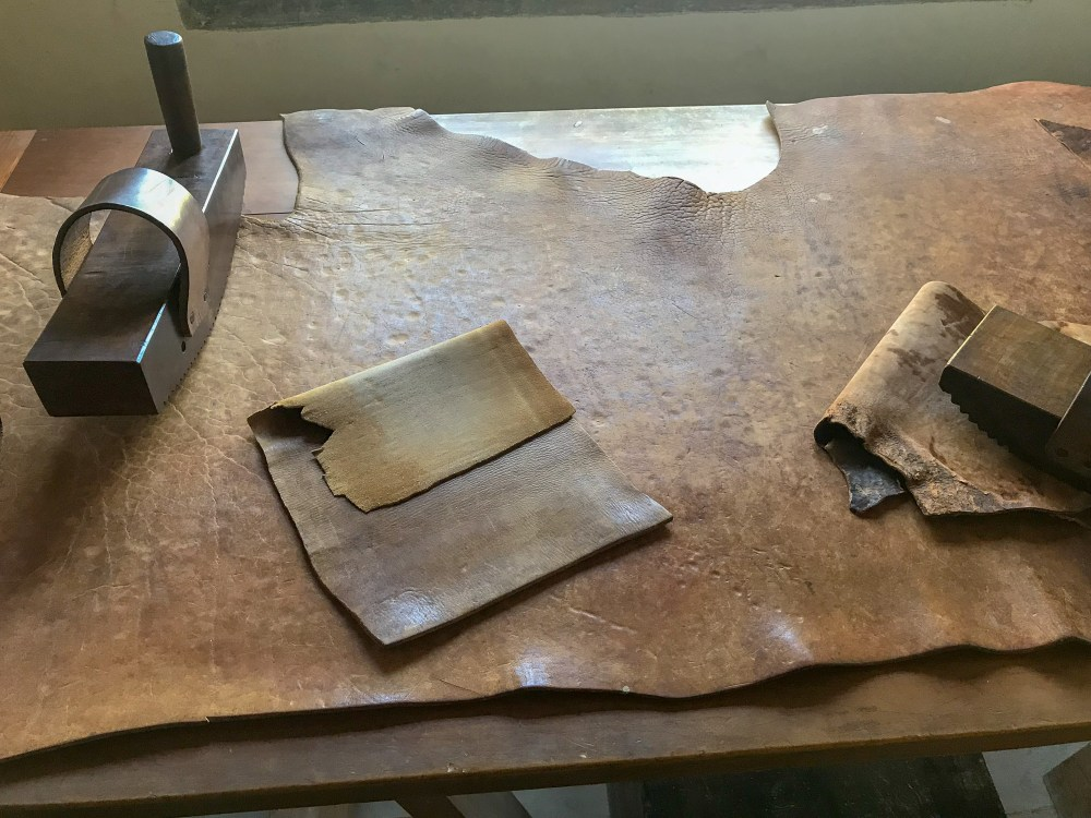 Materials to leather bind books