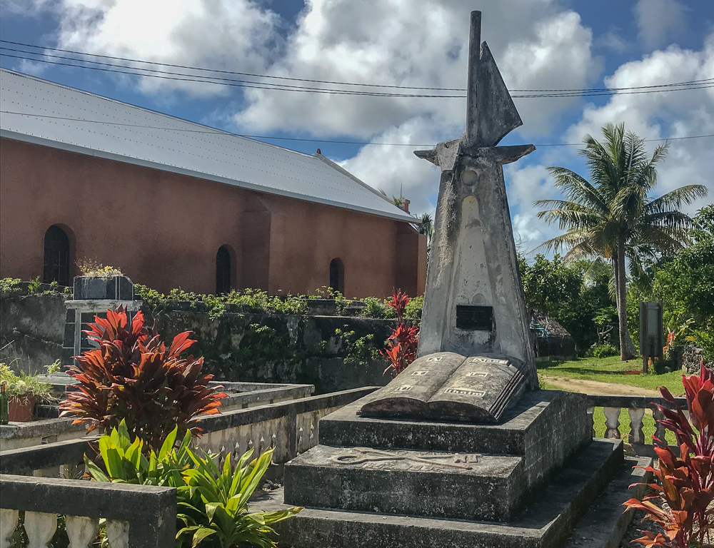 Monument behind Lifou school