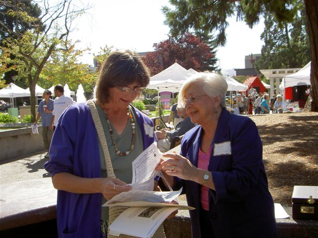 Terry Ehret and Beatriz Lagos at Soco Book Festival