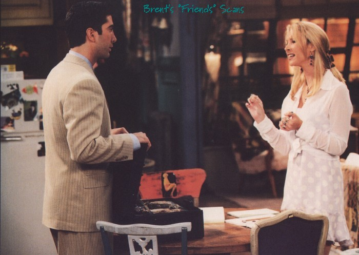 Ross&Phoebe argued on evolution and gravity