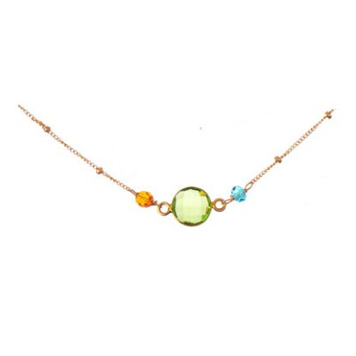 Peridot Wrapped Necklace